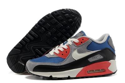 Женские кроссовки Nike Air Max 90 - серо-голубые черный