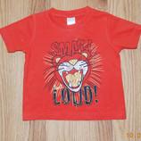 Фирменная футболка для мальчика 12-18 месяцев, 86 см