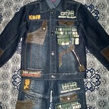 Джинсовый костюм для мальчика курточка и джинсы на 5-8 лет.