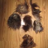 Кусочки натурального меха из чернобурки