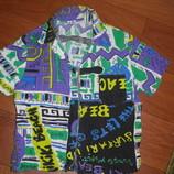 Яркая рубашка на лето легенькая на 2-3года