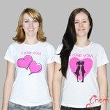 Отличного качества футболки для девушек