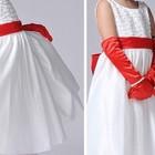 Платье на девочку нарядное белое 120, 130.
