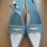 Элегантные,удобные туфли-лоферы100%натуральная кожа.Бразилия.40-41.26 см.