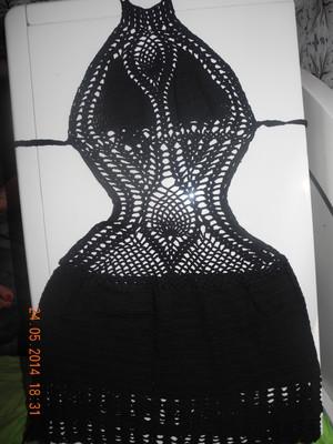 Платье вязаное S-M супер-эффектное