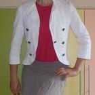 Жакет, пиджак белый С-ка, М-ка 38 р. 98% хлопок, 2% эластан.