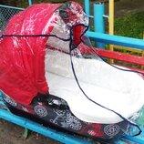 дождевик на коляску для коляски люльки трости прогулки новый силикон силиконовый