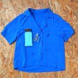 блуза синяя, размер M-L, блузка рубашка майка футболка кофта туника