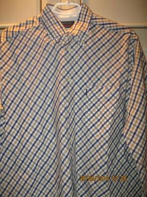 Рубашка новая мужская в клетку 48-50 размера