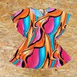 яркая блуза большой размер L-XL, блузка майка батал футболка рубашка