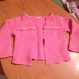Вязаная розовая кофта Dr. Kid для девочки 18 мес