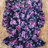 блузка в цветы, р-р M-L, блуза майка туника футболка кофта