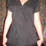 Черная хлопковая рубашка F&F 12/40 наш 46