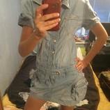 стильное джинсовое платье р. с-м