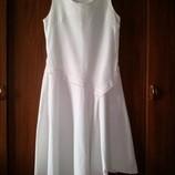 Платье на жаркое лето, р. S. Лен 45%, вискоза 55%.