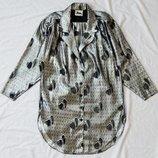 блузка в сердечки, р-р L, блуза майка туника футболка кофта пиджак