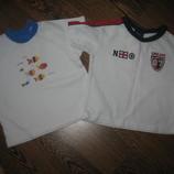 2 фирменные футболки от 0 до 6 месяцев