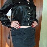 Блуза курточка черная атласная RIFLE р.М
