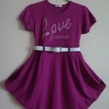 Платье бордовое фиолетовое на 10-12 лет р.140-152