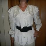 Кремовая шикарная блузка