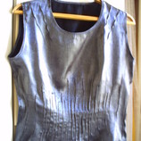 темно-серебристая блузка р.М-L