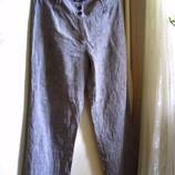 Фирменные серые льняные брюки р. L Promiss, европейский р.44 штаны