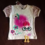 Яркие футболки для девочек Divonette 2-4 года. Турция.