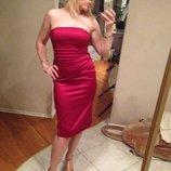 Платье атлас Atmosphere бордо 44-48
