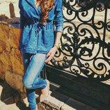 Женская джинсовая куртка парка, ветровка
