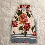 Туника стильная Zara S/M. Топ блузка майка футболка цветочный принт.