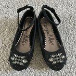 Шикарные туфельки George. 19,5см. стелька. USA. Нарядные, стильные. Платье пышное, нарядное.