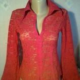 Кофточка кружевная,кофта,блуза,блузка,футболка размер 38-40 фирмы DELORAS, б/у