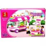 Конструктор SLUBAN Розовая мечта Торговый фургон 102 дет.