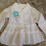 Блуза белая на 2-4 година