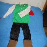 Новогодний карнавальный костюм Робин Гуд на возраст 4-6 лет Прокат