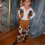 Костюм новогодний карнавальный Ковбой на возраст 4-10 лет