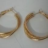 Серьги женские русское 750 Gold Filled золото