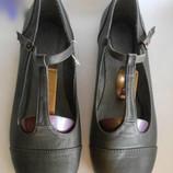 Красивые серые туфельки туфли балетки