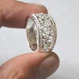 Супер ажурное колечко серебро 925 проба,18 размер