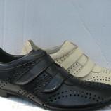 Туфли летние Lido Marinozzi натур.кожа р.40-45 мод.А46 липучка