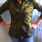 золотисто-кофейная блузка р.М, сшита на заказ