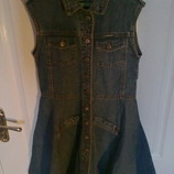 Джинсовое платье-сарафан размер 36 фирмы VITES, б/у
