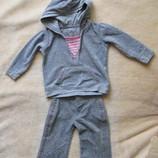 Велюровый костюмчик marks&spencer для малышки