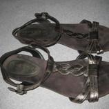 летние кожаные босоножки сандали, стелька 26,5 см, Футглоу