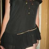 Эффектная,дорогая, дизайнерская легкая летняя майка- блуза с шифоном 44-46й.Новая