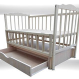 Детская кроватка Еко-4, Новые, маятник ящик откидной бок