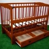 Кроватка кровать детская Мальвина 2, с ящиком, темная, со склада 1500 грн.