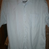 Новая летняя нарядная рубашка в тонкую полоску