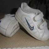 кроссовки макасини кеды найк Nike кожаные новые почти 13 см стелька
