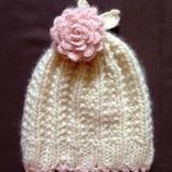 Новая шерстяная гламурная шапочка Lisbeth Dahl 2-5 лет. Шерсть. Англия.